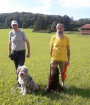 Die beiden Neuangekörten Frollein Lotti und Fidelia mit ihren Herrchen Frank Gottschalk und Holger
